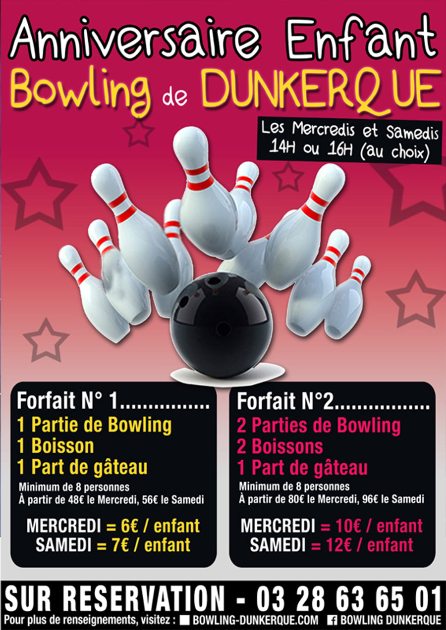 anniversaire bowling dunkerque